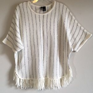 Oversized Sweater Tassels Cable Knit Slouchy